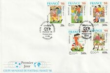 3 MAY 1996 FRANCE '98 WORLD CUP LAOS SET ALL 5 COMMEMORATIVE FOOTBALL COVER