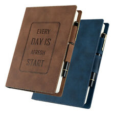 A5 Leather Cover Vintage Retro Journal Notebook Lined Paper Diary Planner 1pc