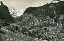 Carte SUISSE Vallée de Lauterbrunnen et la cascade de Stubbach