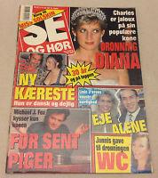 PRINCESS DIANA LADY DI MICHAEL J. FOX FRONT COVER VINTAGE Danish Magazine 1991