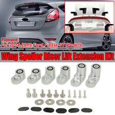 For 2014-19 Ford Fiesta ST ANODIZED SILVER Rear Wing Spoiler Riser Extender