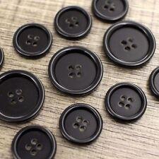 J278 11pcs 15/20mm Shiny Black Button Suit Set Jacket Blazer Sport Coat Bespoke