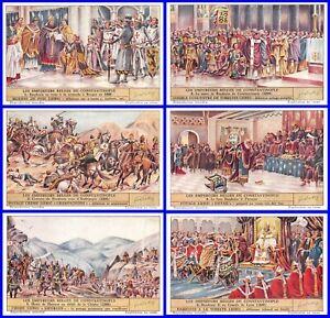 Paket 6 Glanzbilder Liebig Serie Die The Emperors Belgier Von Konstantinopel