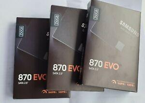 "Samsung 870 EVO 250GB 2,5"" SATA III SSD Interno (MZ-77E250B/EU) 3 pezzi"