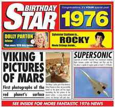 41st Birthday Gifts Card 1976 Britpop Compilation CD Gift Greetings Retro Cards