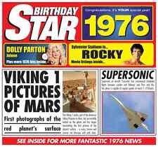 42nd BIRTHDAY GIFT-1976 Britpop Compilation CD  Year  Greeting Card
