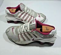 Nike Shox Women's Athletic Running Shoes 488312-013 Pink & Silver Sneakers S 9.5