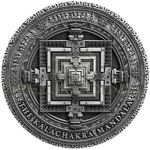 Niue Island 2019 5$ Ancient Calendars - Mandala Kalachakra 2oz