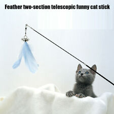 Pet Cat Interaction Telescopic Feather Cat Rods Stick Decompression Cat Toy