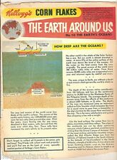 #T78.  1957 - 58  KELLOGG'S CORN FLAKES THE WORLD AROUND US  BACK PANEL #10