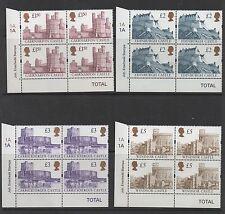 1997. SG1993-SG1996. Set x 4 Enschede Castle cylinder blocks. MNH.