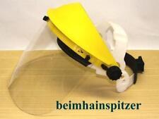 Gesichtsschutz mit Klarsichtvisier + Ersatzvisier Kettensäge Motorsense Flex