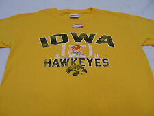 IOWA HAWKEYES - DISTRESSED STYLE - 2010 INSIGHT BOWL - YOUTH SIZE XL T SHIRT