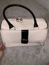 Cream And Black Patent Ted Baker Bag