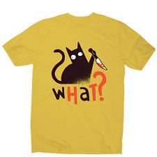 Murder cat funny scary t-shirt men's