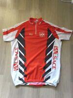 Maillot t-shirt Cycliste Collants Cycle Vélo Bernard Thevenet -L'Alsace le Pays