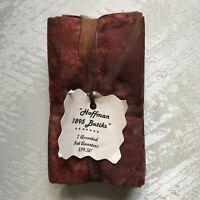 Hoffman 1895 fat quarters (7) cotton batik fabric! Browns! New!
