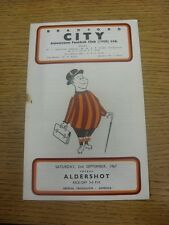 02/09/1967 Bradford City v Aldershot  (Heavy Rusty Staple/Mark, Team Changes).