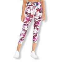 Balance Collection Floral Watercolor Capri Legging Small New
