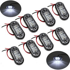 8x White LED Front Side Marker Light Lamp 12/24V Truck Car Trailers Indicator
