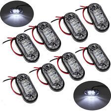 8x Weiß LED Vorderseite Marker Licht Lampe 12/24V DC LKW Auto Anhänger Indikator