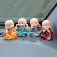 4pcs/set Four Little Monk Cute Doll Car Interior Accessories For Car Decoration