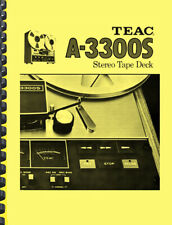 TEAC A-3300s A3300S Tape Deck Owner's Manual -copy