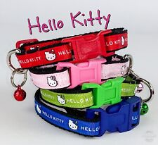 """Hello Kitty cat or small dog collar 1/2"""" wide adjustable handmade or leashes"""