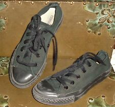 Converse All Stars Black Low Top Sneakers Size 1 Kids Boys