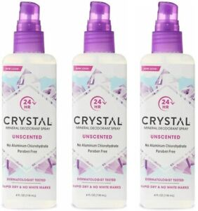 (3 Pack) Crystal Body Deodorant Hypoallergenic Spray 4 Oz