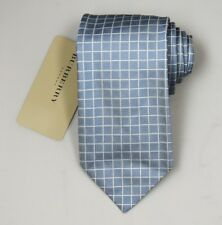 "NEW Burberry GRAY Check Mans 100% Silk Tie Authentic Italy Made 3.5"" 0350108"