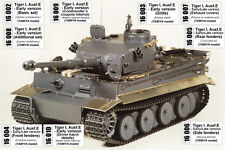 1/16 ABER 16K01 EXCLUSIVE EDITION UPGRATE SET GERMAN TIGER I Early - for TAMIYA