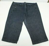 Dockers Bermuda Shorts/Capri's Blue Denim Jeans Stretch Womens Petite Size 14 P