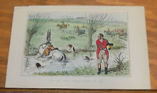 1858 Antique Fox-Hunting COLOR Print///IMPERIAL JOHN'S ATTEMPT TO SHOW THE WAY