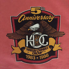 Vtg 80s Harley Davidson Owners Group Hog Henley T Shirt M Annual Rally Ashville