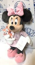 New Disney BABY MINNIE MOUSE PLUSH KITTY AUTHENTIC STORE Huggably Soft Pink Toy