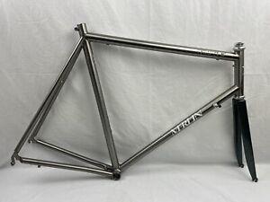CLASSIC Merlin Cycles XL 61cm ST 59cm TT Frame/Fork/King Headset USA TITANIUM