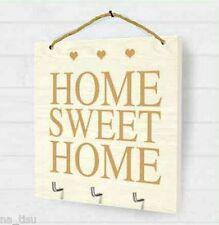CHIAVI MURO STAFFA HOME SWEET HOME in legno agganciato Peste Rack Titolare D'oro