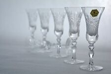 "Crystal glass Liqueur glasses set of 6 from Poland Hand Made ""HANDMADE Clear"