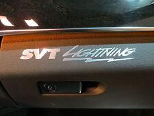 (2pcs) dashboard badge sticker decal SVT LIGHTNING
