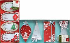 Holiday Handmade Christmas Gift Tags Adhesive Sticker Labels Set Of 2