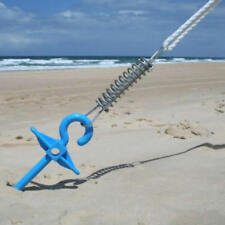 4PK 31cm Blue Screw Sand Pegs Beach Camping Shade Gazebo Replacement Supa Stake