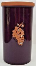"Wine Bottle Chiller/Holder W/Purple Glaze & Rhinestones - 8 1/2"" Tall x 4 1/2"""