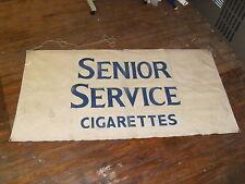 Huge Antique Senior Service Cigarettes Canvas Advertising Banner