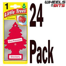 24x Magic Tree Little Trees Strawberry Scent Fragrance Car Van Air Freshener