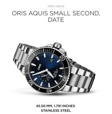 Oris AQUIS DATE 500 m , 46mm DIVERS WATCH Sub Seconds  RRP $3700 SELLING in AUST