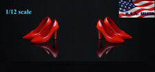 """1/12 Scale High Heels Shoes RED For 6"""" PHICEN TBLeague T01 Female Figure ❶USA❶"""