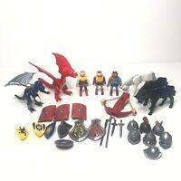 Playmobil Medieval Knights Figure Dragon Horse Sword Shield Helmet Armour Bundle