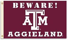 Texas A&M Aggies Beware Country 3x5 Flag w/grommets Banner University of
