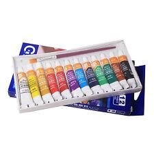 12 Color 5ml Paint Tube Draw Painting Gouache Color Set & Free A Paint Brush